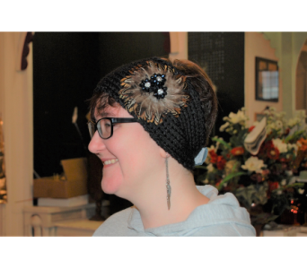 Earmuff Tobaggan w-Feathers in Nashville TN, Emma's Flowers & Gifts, Inc.