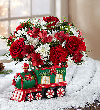 Christmas Express Train in Fairfax VA, Greensleeves Florist
