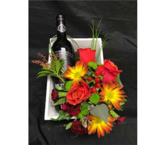 wine and flowers in Airdrie AB, Summerhill Florist Ltd