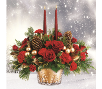 Winter Pines Centerpiece  in Indianapolis IN, George Thomas Florist