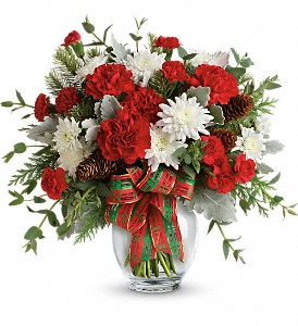 Teleflora's Holiday Shine Bouquet in Dubuque IA, New White Florist