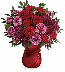 Teleflora's Mad Crush Bouquet in Hallowell ME, Berry & Berry Floral