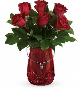 Teleflora's You Are Cherished Bouquet in Rochester NY, Red Rose Florist & Gift Shop