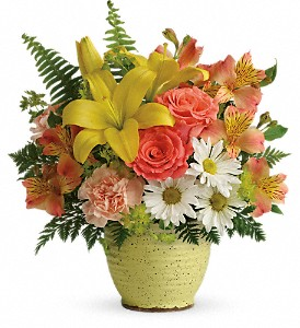 Teleflora's Clear Morning Bouquet in Charleston WV, Food Among The Flowers