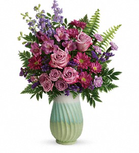 Teleflora's Exquisite Artistry Bouquet in Woodlyn PA, Ridley's Rainbow of Flowers