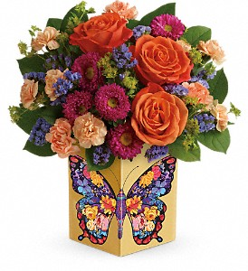 Teleflora's Gorgeous Gratitude Bouquet in Bluffton IN, Posy Pot