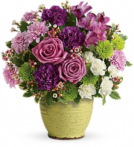 Teleflora's Spring Speckle Bouquet in Columbia Falls MT, Glacier Wallflower & Gifts