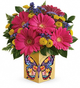 Teleflora's Wings Of Thanks Bouquet in The Woodlands TX, Rainforest Flowers