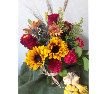 Fall Harvest Bouquet in Largo FL, Rose Garden Florist