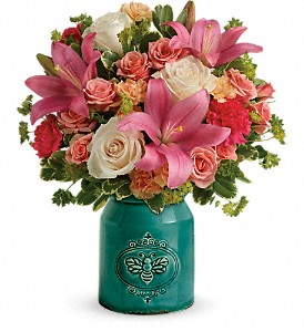 Teleflora's Country Skies Bouquet in Midland TX, A Flower By Design