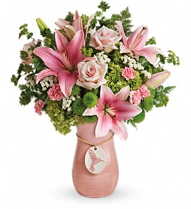 Teleflora's Elegance In Flight Bouquet in Northport NY, The Flower Basket