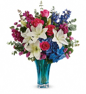 Teleflora's Ocean Dance Bouquet in The Woodlands TX, Rainforest Flowers