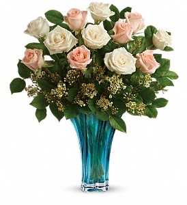 Teleflora's Ocean Of Roses Bouquet in Niagara Falls NY, Evergreen Floral