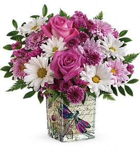 Teleflora's Wildflower In Flight Bouquet in Wausau WI, Blossoms And Bows