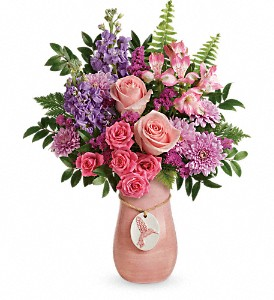 Teleflora's Winged Beauty Bouquet in New Iberia LA, A Gallery of Flowers