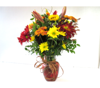 Autumn Garden Vase in Worcester MA, Holmes Shusas Florists, Inc