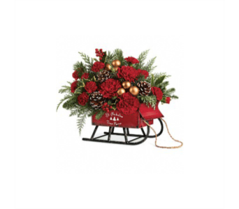 Silk flowers delivery columbus oh osuflowers columbus silk telefloras vintage sleigh bouquet in silk in columbus oh osuflowers mightylinksfo