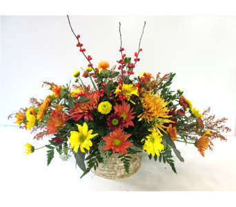 Birch Basket Centerpiece in Worcester MA, Holmes Shusas Florists, Inc