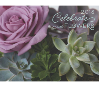 2018 Hoogasian Flowers Calendar in San Francisco CA, Hoogasian Flowers