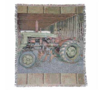 Tractor Tapestry Throw in Hendersonville TN, Brown's Florist