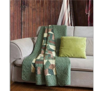 Woodland Star Green Tapestry Throw in Hendersonville TN, Brown's Florist