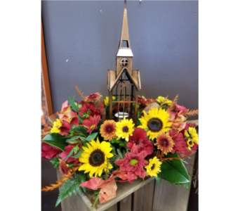 Copper Church Arrangement in Alexandria MN, Anderson Florist & Greenhouse