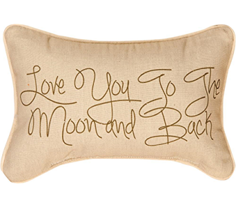 Love You To The Moon Pillow in Bonita Springs FL, Heaven Scent Flowers Inc.