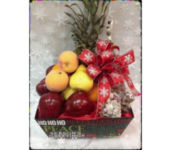 Holiday Fruit & Chocolate Basket in Richmond MI, Richmond Flower Shop