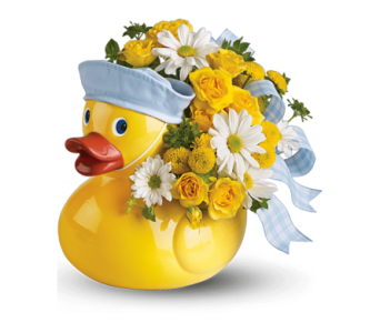 Just Ducky Vase Arrangement in Oklahoma City OK, Trochta's