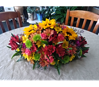 Elegant Fall Centerpiece in Lehigh Acres FL, Bright Petals Florist, Inc.