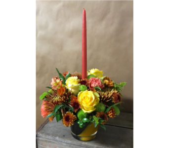Autumn Artglass Centerpiece in Edmonds WA, Dusty's Floral