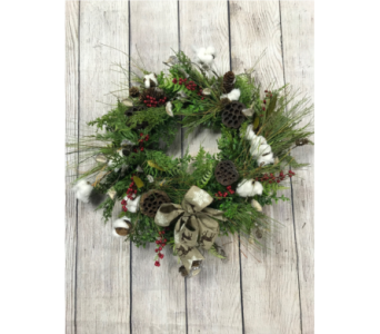 Elegant Forest Wreath in Virginia Beach VA, Fairfield Flowers