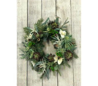 Organic Christmas Wreath in Virginia Beach VA, Fairfield Flowers