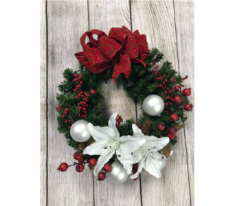 Holly Jolly Wreath in Virginia Beach VA, Fairfield Flowers