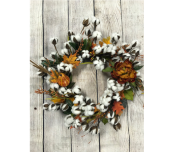 Harvest Moon Wreath in Virginia Beach VA, Fairfield Flowers