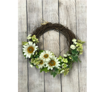Crazy About Daisies Wreath in Virginia Beach VA, Fairfield Flowers