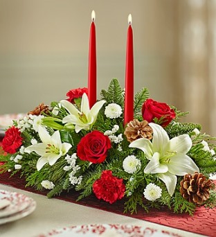 Traditional Christmas Centerpiece  in Camp Hill and Harrisburg PA, Pealers Flowers