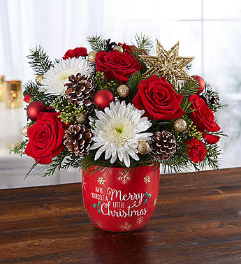 Merry Little Christmas Arrangement  in Camp Hill and Harrisburg PA, Pealers Flowers