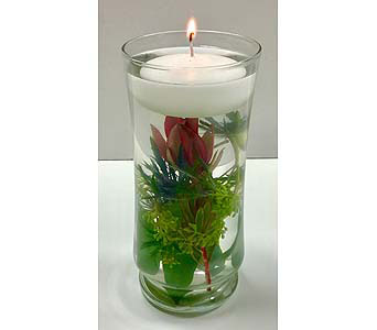 Floating Candle Centerpiece in Northfield MN, Forget-Me-Not Florist