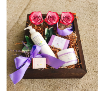Oregon Lavender Relaxation Gift Set in Eugene OR, Dandelions Flowers