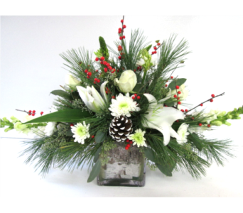 White Mountain Centerpiece in Worcester MA, Holmes Shusas Florists, Inc