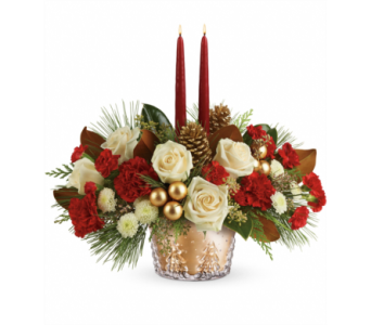 Teleflora's Winter Pines Centerpiece in Detroit and St. Clair Shores MI, Conner Park Florist
