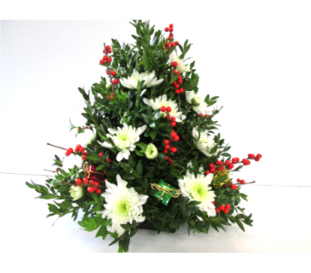 Boxwood Tree with gift packages in Worcester MA, Holmes Shusas Florists, Inc