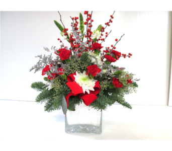 Frosty Morning Centerpiece in Worcester MA, Holmes Shusas Florists, Inc