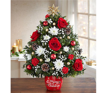 Merry Little Christmas Holiday Flower Tree dans Watertown CT, Agnew Florist