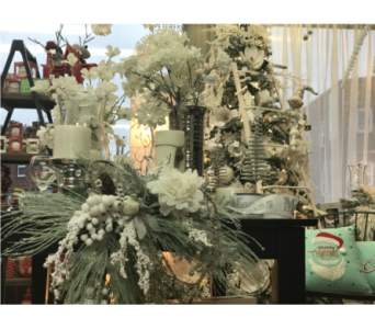 Christmas Display in Moncton NB, Macarthur's Flower Shop