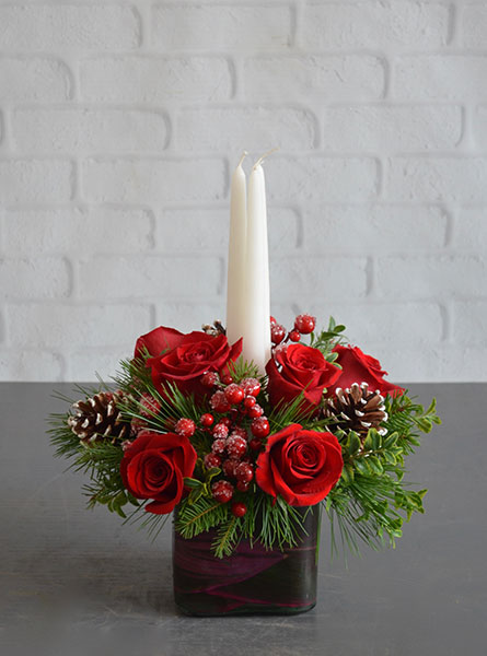 Home for the Holidays Centerpiece in Clarks Summit PA, McCarthy-White's Flowers