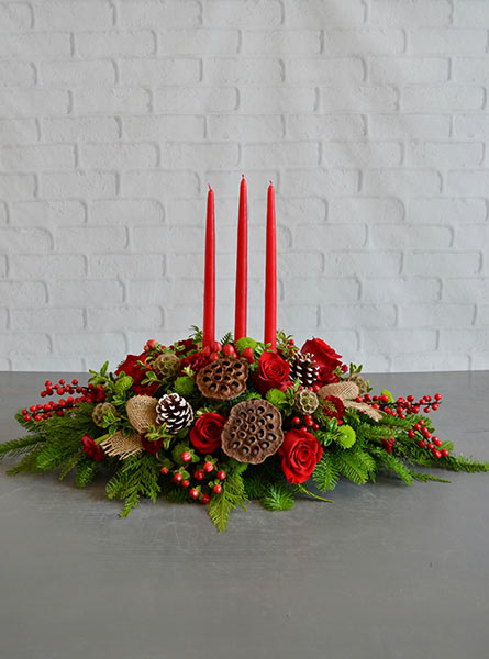 Christmas Cheer Centerpiece in Scranton PA, Remick Floral & Gift