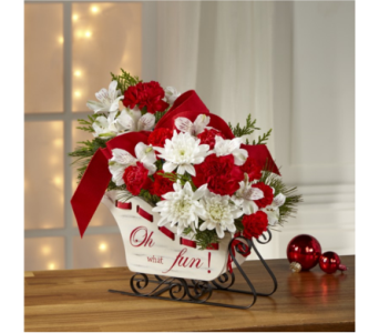 FTD Holiday Traditions Sleigh Bouquet in Noblesville IN, Adrienes Flowers & Gifts