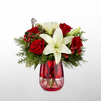 Festive Holiday Bouquet in Camp Hill and Harrisburg PA, Pealers Flowers